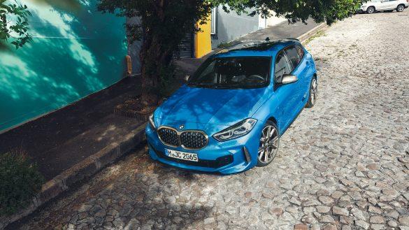 BMW 1er Front von links oben