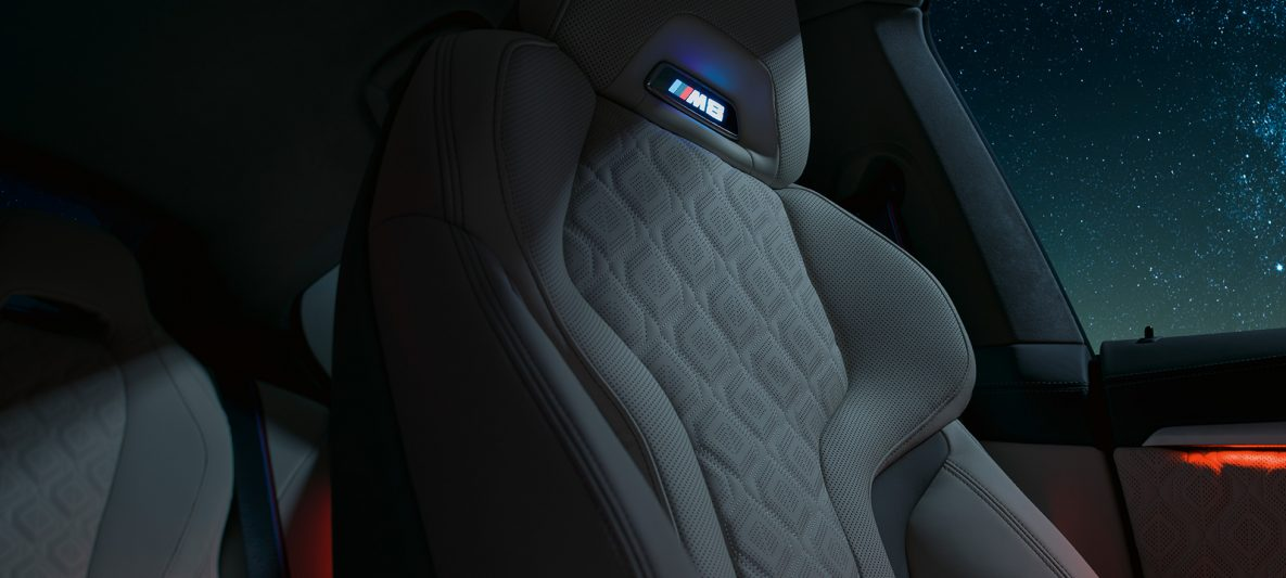 M Sportsitze mit M8 Logo BMW M8 Competition Gran Coupé F93 2020 Interieur