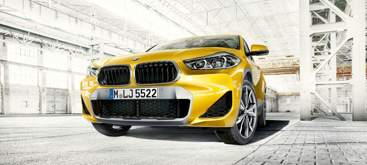 BMW X2 2018 F39 Galvanic Gold metallic Frontansicht Doppelniere