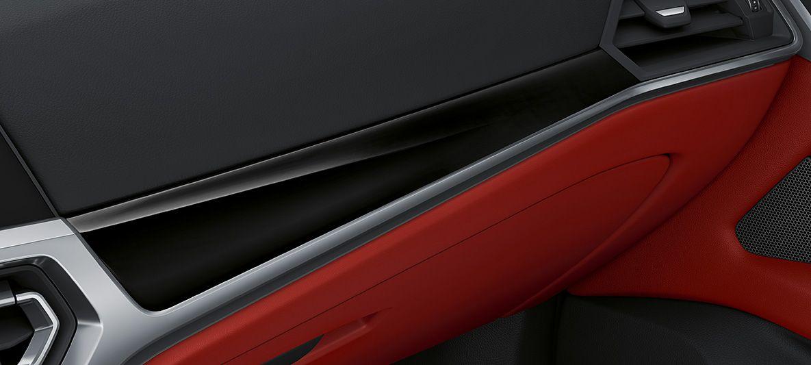 BMW Individual Interieurleisten Pianolack schwarz BMW 4er Gran Coupé G26 2021 Innenraum