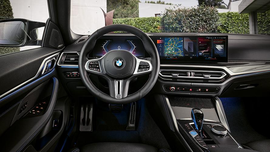BMW i4 M50 G26 2021 Innenraum, Cockpit, Instrumententafel und Mittelkonsole
